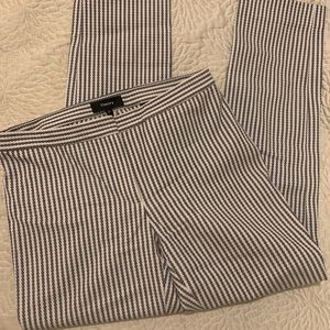 Theory blue and white striped pant, size 00
